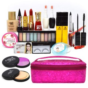 Home Salon Kit with a Makeup Pouch